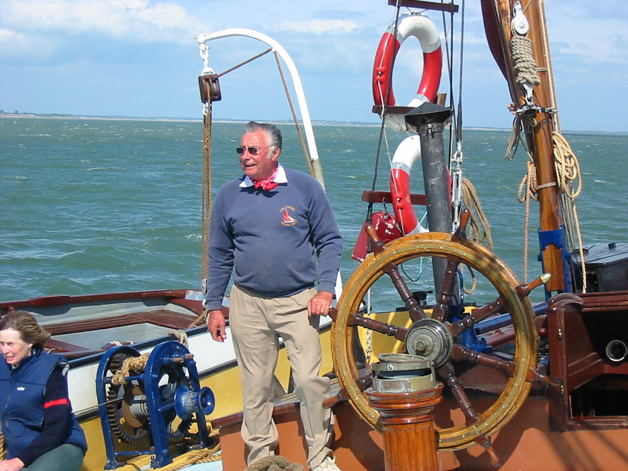 Skipper Jim Lawrence sailing Centaur 2003