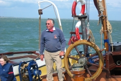 Skipper Jim Lawrence sailing Centaur 2003